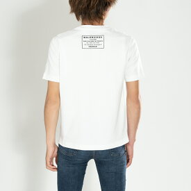 バレンシアガ Tシャツ バックロゴ 496053 TXK46 9000 BALENCIAGA ホワイト S メンズ レディース コットン 送料無料