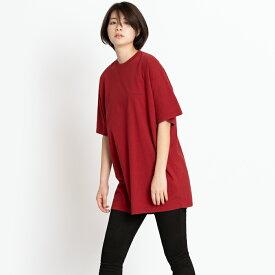 バレンシアガ Tシャツ カットソー 半袖 オーバーサイズ 胸ロゴ BALENCIAGA メンズ レディース 556150 TCV25 6064 レッド XS コットン