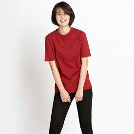 バレンシアガ Tシャツ 胸ロゴ BALENCIAGA 556151 TCV25 6064 メンズ レディース レッド XS コットン