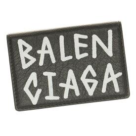 ショップ袋付き バレンシアガ 財布 グラフィティ 三つ折り財布 ミニ ウォレット 529553 0EE12 1080 BALENCIAGA レザー レディース メンズ 革 Carry Mini Wallet Graffiti プレゼント ギフト ラッピング対応