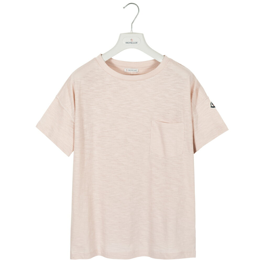 モンクレール MONCLER Tシャツ オーバーサイズ レディース メンズ 半袖 袖ロゴ ピンク T-SHIRT GIROCOLO 8081900 82857 529 S【送料無料】【トップス ブランドTシャツ】
