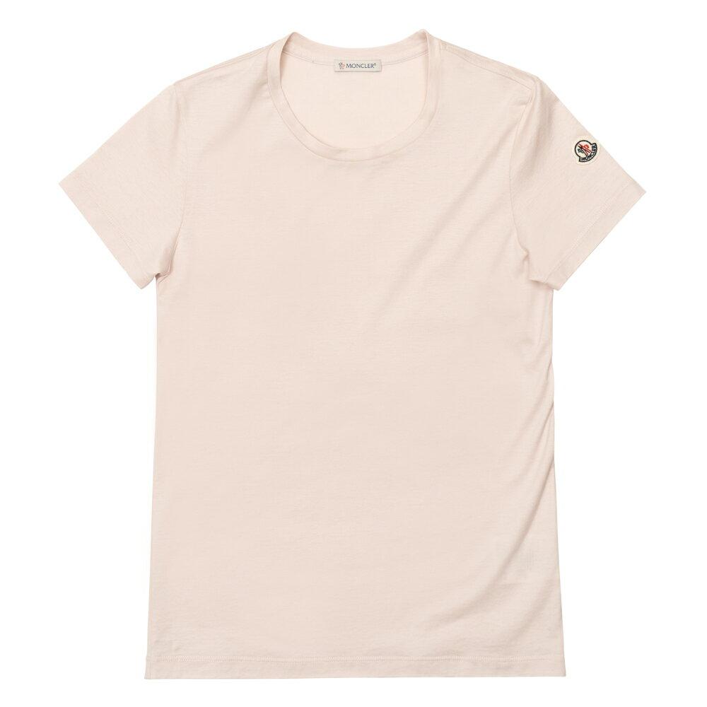 モンクレール MONCLER Tシャツ レディース 半袖 袖ロゴ ピンク T-SHIRT GIROCOLO 80862 8390X 529 XS/M【送料無料】【トップス ブランドTシャツ】
