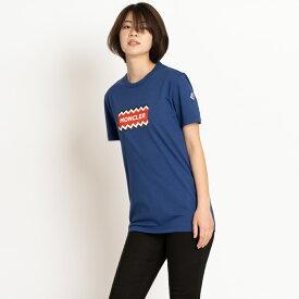 モンクレール Tシャツ カットソー 半袖 袖ロゴ MONCLER MAGLIA T-SHIRT ブルー サイズS 8037250 8390T 738 メンズ レディース トップス
