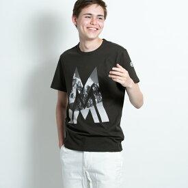 モンクレール MONCLER メンズ Tシャツ カットソー メンズ 半袖 袖ロゴ カーキ MONCLER MAGLIA T-SHIRT 8036150 8390T 828 Sサイズ【送料無料】【メンズ トップス ブランドTシャツ】