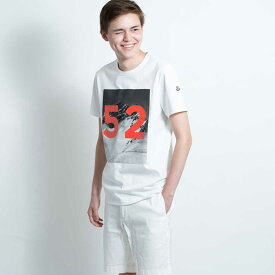 モンクレール MONCLER メンズ Tシャツ カットソー 半袖 袖ロゴ ホワイト MONCLER MAGLIA T-SHIRT 8036250 8390Y 001 Sサイズ【送料無料】【メンズ トップス ブランドTシャツ】
