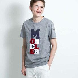 モンクレール MONCLER メンズ Tシャツ カットソー メンズ 半袖 袖ロゴ グレー MONCLER MAGLIA T-SHIRT 8037050 8390T 987 Sサイズ【送料無料】【メンズ トップス ブランドTシャツ】