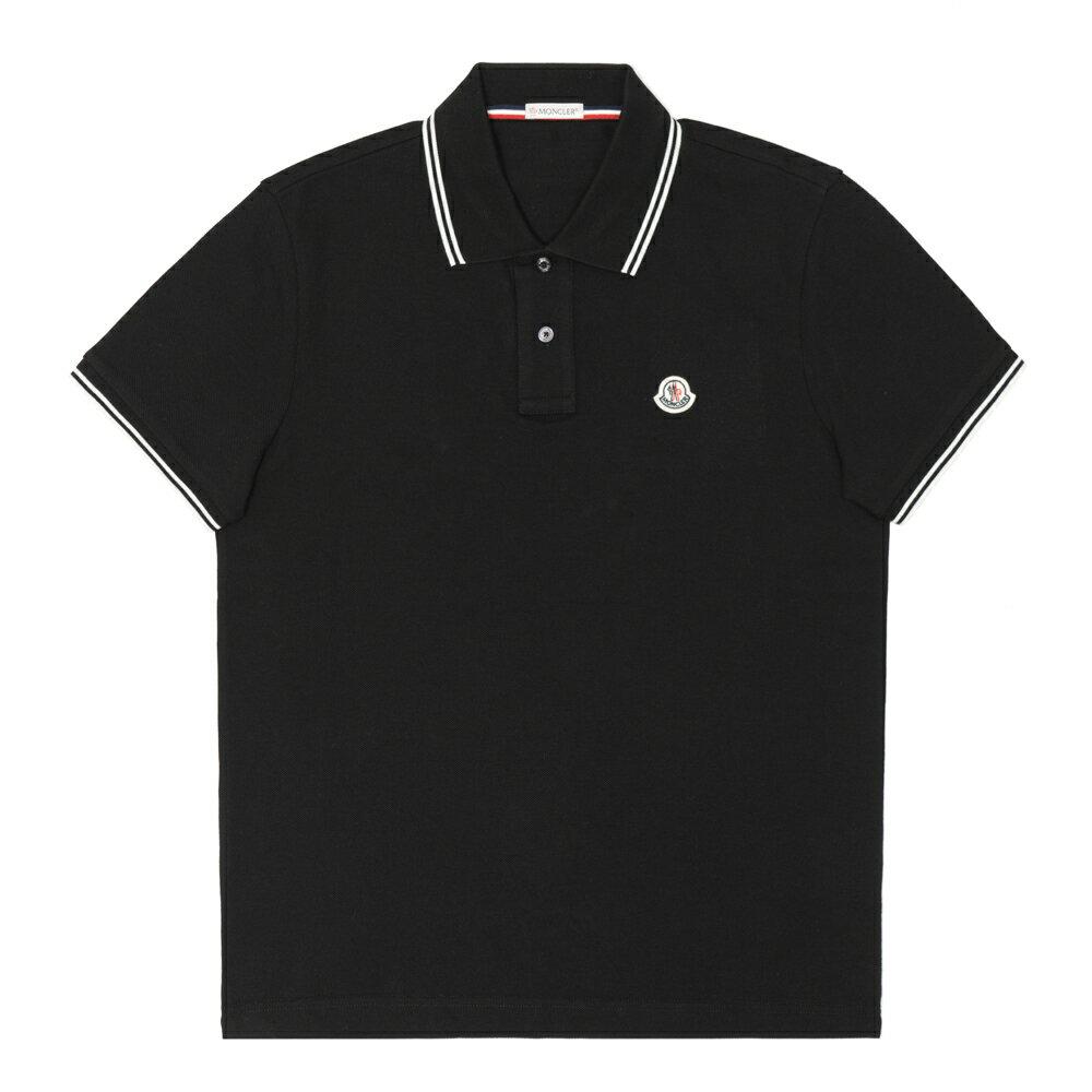 モンクレール MONCLER ポロシャツ メンズ 半袖 胸ロゴ ブラック MAGLIA POLO MANICA CORTA 8304399 84556 999 Sサイズ 鹿の子 ゴルフ【送料無料】【メンズ トップス ブランドポロシャツ】