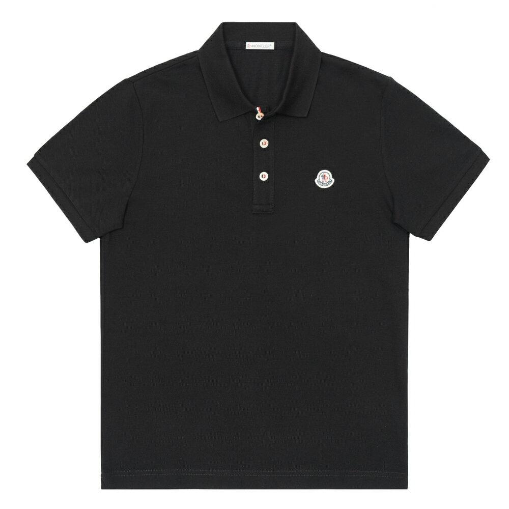 モンクレール MONCLER ポロシャツ メンズ 半袖 胸ロゴ ブラック MAGLIA POLO MANICA CORTA 8340800 84556 999 XS/S 鹿の子 ゴルフ【送料無料】【メンズ トップス ブランドポロシャツ】