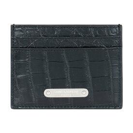 サンローランパリ SAINT LAURENT PARIS メンズ カードケース パスケース 462364 DZE0E 1000 ブラック レザー 革