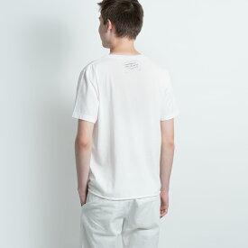 サンローラン パリ SAINT LAURENT PARIS Tシャツ カットソー メンズ ホワイト 500635 YB2NB 9744 S フランス製 おしゃれ ロゴ カジュアル 送料無料