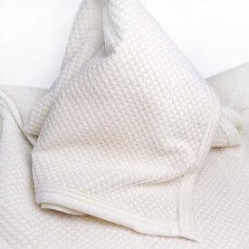 ふんわりシール織 市松柄綿ひざ掛け140cm×70cm【高野口綿毛布】