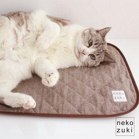 マット 猫 ベッド ぽかぽかマット muji シャンブレー 日本製