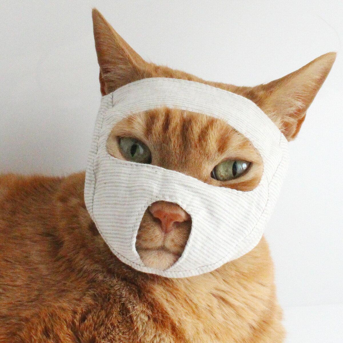 点眼 補助具 目だしマスク 猫 マスク