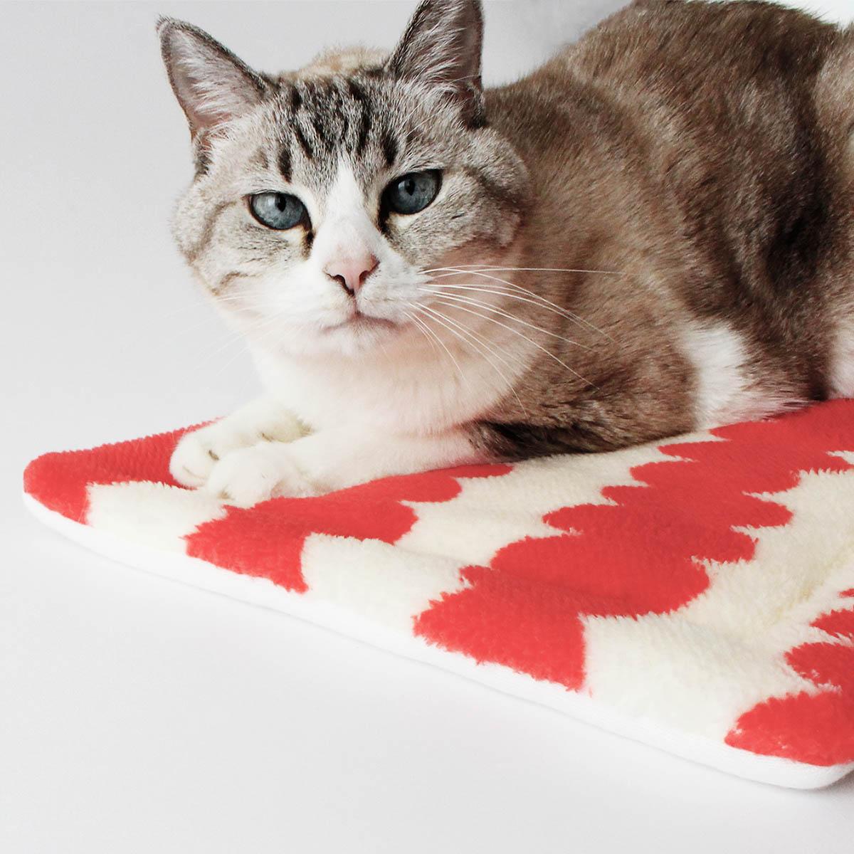 クリスマス マット 猫 猫ozabu(おざぶ) ボア