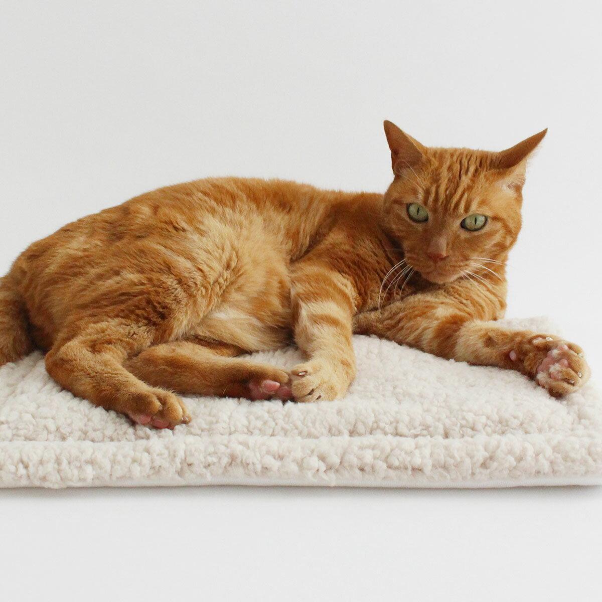 クリスマス マット 猫 猫ozabu(おざぶ) シープボア