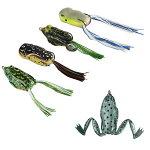 フロッグルアーカエルバス釣り雷魚蛙釣り餌トップウォーター雷魚釣り雷ガエル疑似餌ソフトルアーセット5個入り
