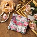 【日本製】ルドゥーテティッシュポーチ/レディースポケットティッシュケースバラ柄薔薇ローズ赤色レッドギフトプレゼント少量化粧ポーチおしゃれ上品花柄便利