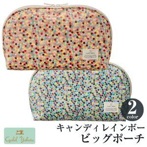 ビッグポーチ キャンディレインボー (ピンク・ブルー) / トラベルポーチ おしゃれ 化粧品 日本製 機能的 ギフト プレゼント お祝い トラベルポーチ