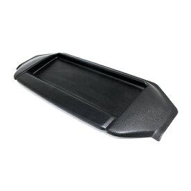 カーナビ用サンバイザー ハイエース 200系 ワイド車 前期後期 ナビバイザー トレー付 シボ柄/マッドブラック 小物入れ 日よけ
