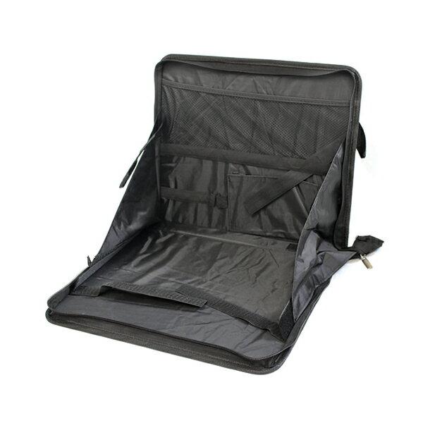 ドリンクホルダー付き 車用テーブル 後付け 車載テーブル ヘッドレスト 後部座席用 折り畳みテーブル ブラック 黒 マルチトレイ パソコン作業に マガジンラック