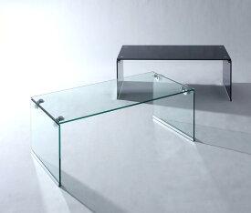 【ポイント10倍】【単品】ローテーブル クリア 強化ガラスローテーブル【Lena】レナ【代引不可】