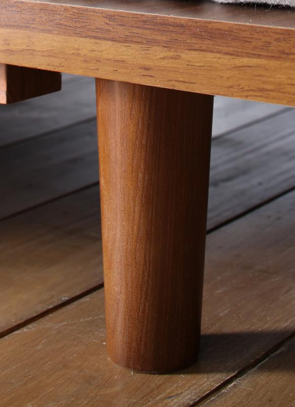 【ポイント10倍】【本体別売】脚5cm 木タイプ【Bona】ウォルナットブラウン デザインボードベッド【Bona】ボーナ専用 別売り 脚