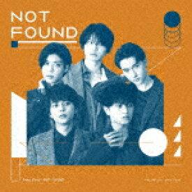 【ポイント10倍】Sexy Zone/NOT FOUND (初回限定盤B)[JMCT-19004]【発売日】2020/11/4【CD】