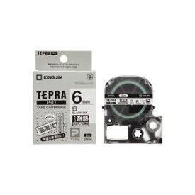 【ポイント10倍】(業務用3セット)キングジム テプラ PROテープ/ラベルライター用テープ 【耐熱ラベル/幅:6mm】 長さ2m SN6K