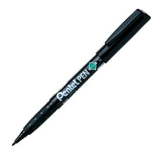 【ポイント10倍】(まとめ)ぺんてる ペン ENMS50-A 細字 丸芯 黒【×30セット】