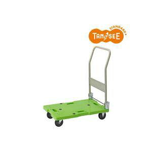 【ポイント10倍】TANOSEE 樹脂運搬車(キャスター標準) W450×D705×H860mm 120kg荷重 1台