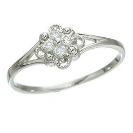 【ポイント10倍】プラチナダイヤリング 指輪 デザインリング3型 フローラ 7号