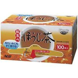【ポイント10倍】(業務用2セット)AGF 新茶人ほうじ茶スティック 100P/1箱