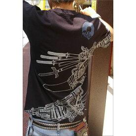 【ポイント10倍】戦国武将Tシャツ 【加藤清正】 Mサイズ 半袖 綿100% ブラック(黒) 〔Uネック おもしろ〕