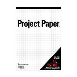 【ポイント10倍】(まとめ) オキナ プロジェクトペーパーA4 方眼(10mm) 1冊(100枚) 型番:PPA40S 【×10セット】