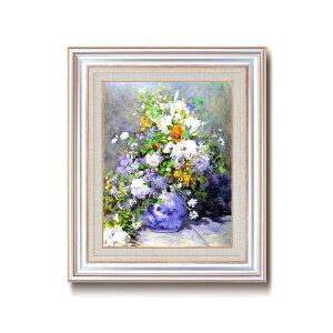 【ポイント10倍】名画額縁/フレームセット 【F6AS】 ルノワール 「花瓶の花」 477×571×59mm 壁掛けひも付き