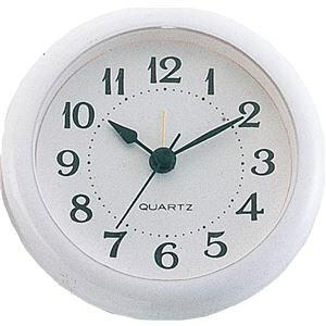 【ポイント10倍】(まとめ)アーテック 丸型時計 ホワイト アラーム付 【×15セット】