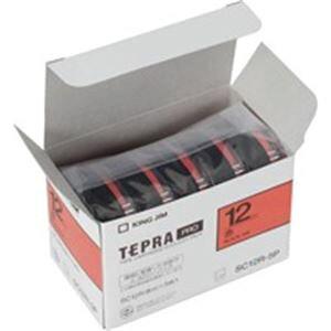 【ポイント10倍】(業務用10セット) キングジム テプラ PROテープ/ラベルライター用テープ 【幅:12mm】 5個入り カラーラベル(赤) SC12R-5P