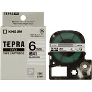 【ポイント10倍】(業務用2セット) キングジム テプラ PROテープ/ラベルライター用テープ 【幅:6mm】 20個入り ST6K-20 透明 【×2セット】