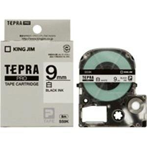 【ポイント10倍】(業務用2セット) キングジム テプラ PROテープ/ラベルライター用テープ 【幅:9mm】 20個入り SS9K-20 ホワイト(白) 【×2セット】