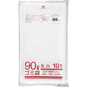 【ポイント10倍】(まとめ) クラフトマン 業務用乳白半透明 メタロセン配合厚手ゴミ袋 90L HK-086 1パック(10枚) 【×15セット】