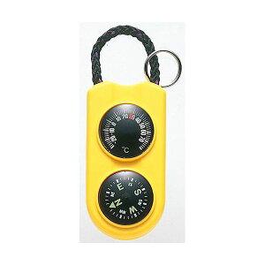 【ポイント10倍】(まとめ)EMPEX 温度計・コンパス サーモ&コンパス FG-5124 イエロー【×5セット】