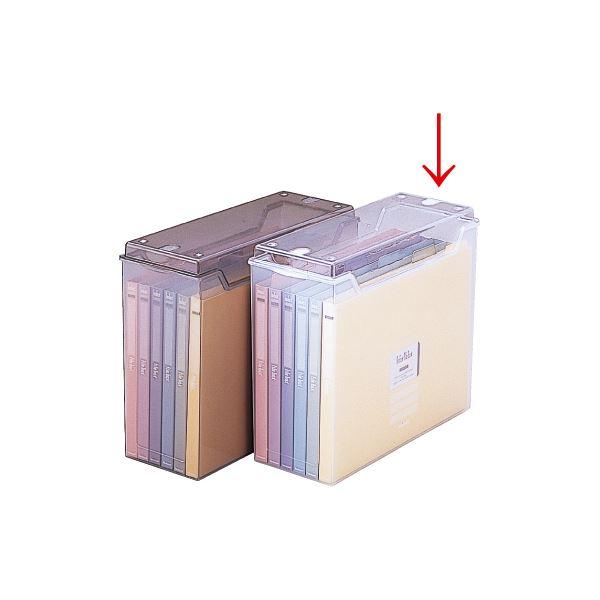 【ポイント10倍】(業務用セット) インデックスファイルボックス フボI-F2C クリア【×2セット】