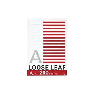【ポイント10倍】(業務用100セット) プラス ルーズリーフ NL-200A B5 26穴 A罫 200枚