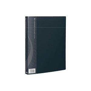 【ポイント10倍】(業務用セット) B5クリアブック 40ポケット ベーシックカラー CB1043D-N ブラック【×10セット】