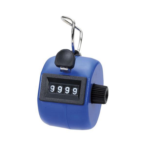 【ポイント10倍】(業務用セット) 岡本製図器械 数取器手持型プラスチック製 75090 ブルー 1個入 【×3セット】