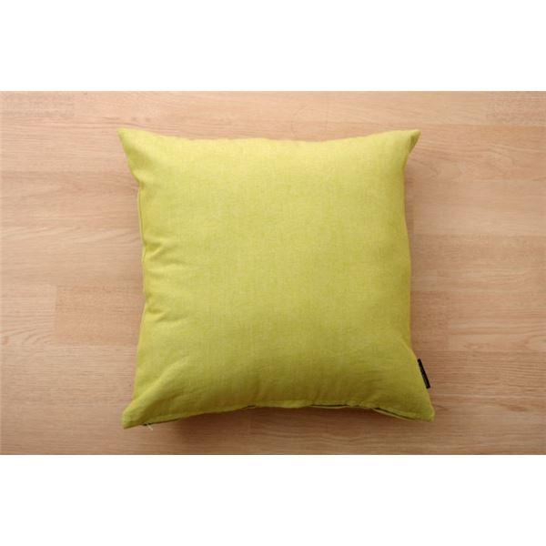 【ポイント10倍】クッション カバー 綿100% 無地 シンプル 『ルージュ』 グリーン 約45×45cm 2枚組