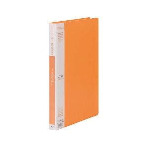 【ポイント10倍】(まとめ) テージー マイホルダーファイン A4タテ型 40ポケット オレンジ 【×5セット】