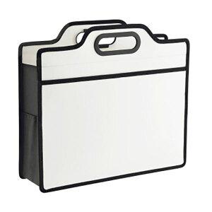 【ポイント10倍】(まとめ)ライオン事務器 オフィスキャリングバッグ(ビジカル)タテ330×ヨコ365×厚さ110mm ホワイト BK-353B 1個【×5セット】