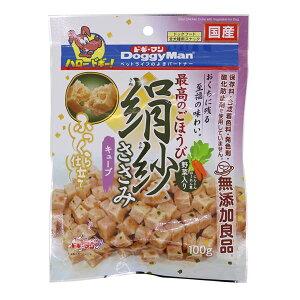 【ポイント10倍】(まとめ)ドギーマン絹紗 キューブ 野菜入り 100g【×12セット】