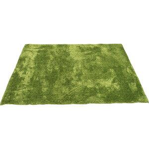 【ポイント10倍】カーペット ラグ 敷物 室内 芝生ラグ 190×190cm グリーン オーシャン 九装